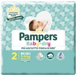 Pampers Baby Dry - 2 - 24...