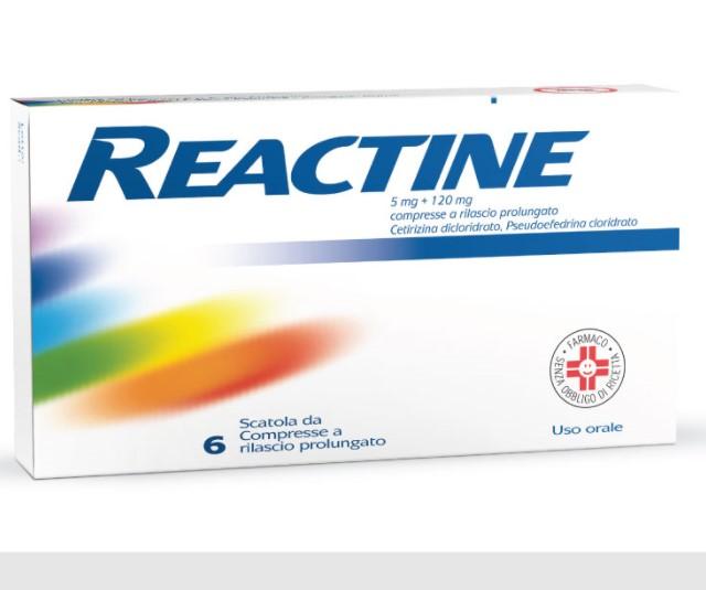 Reactine 5 Mg + 120 Mg Compresse A Rilascio Prolungato