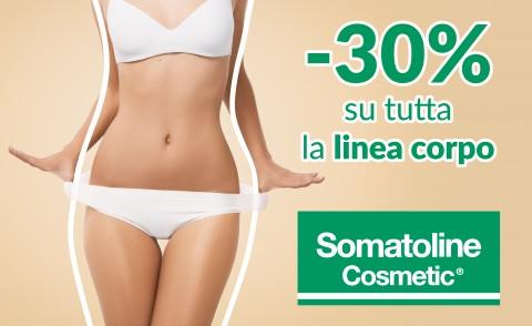 30% di sconto sulla linea corpo Somatoline Cosmetic